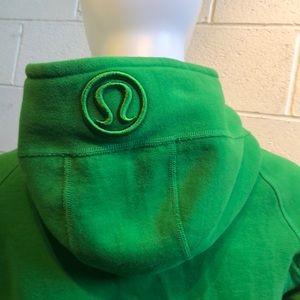 lululemon athletica Tops - Lululemon green scuba hoodie sz 8 59944